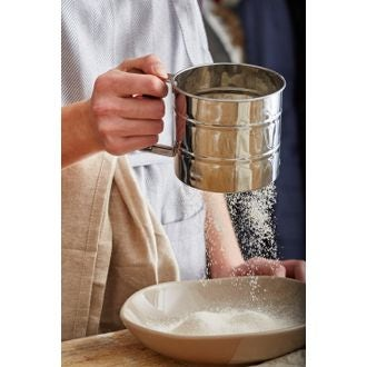 Setaccio meccanico per farina in acciaio inox 10cm