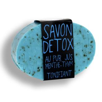 Savon detox - tonifiant au pur jus menthe-Thym - 152gr