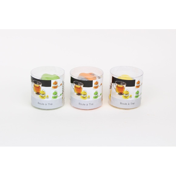 Achat en ligne Boule à thé avec repose sachet en silicone coloré