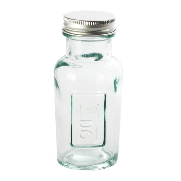 Vasetto per spezie in vetro riciclato con tappo a vite 90 gr