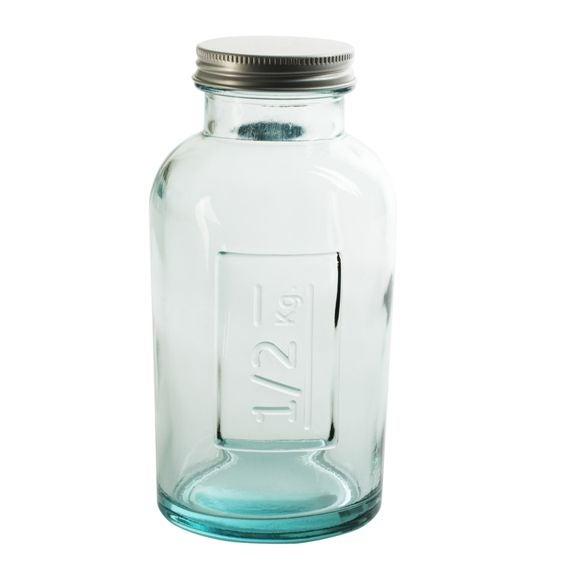 Barattolo in vetro con coperchio a vite 11x12cm