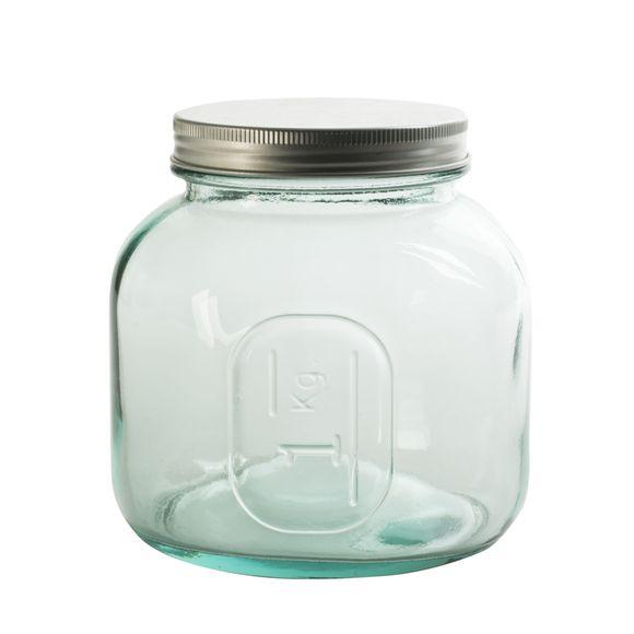 Barattolo in vetro con coperchio a vite 13x13cm