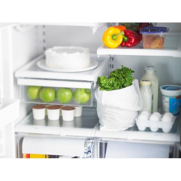 Sacchetto per insalata in microfibra bianco opaco 20 x 35cm