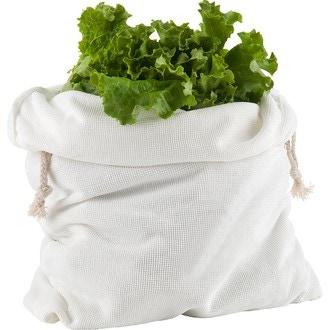 Trudeau - sac à salades en microfibre blanc cassé 20x35cm