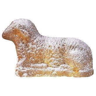 Moule 3d agneau de pâques en métal antiadhésif 15x6,5x27,5cm