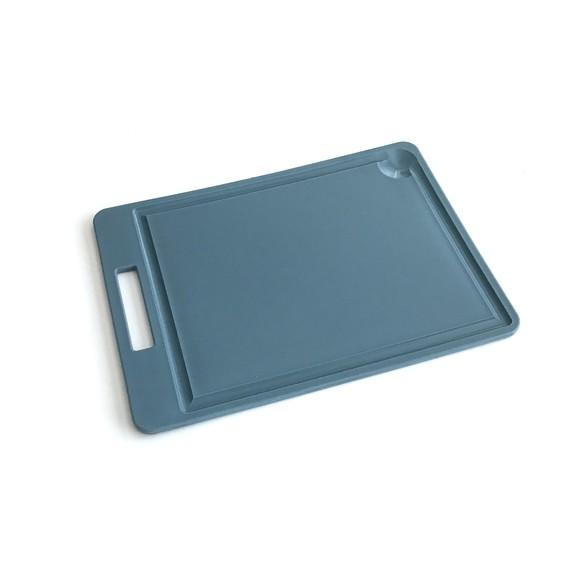 Planche à découper en polyéthylène bleu 35x25cm