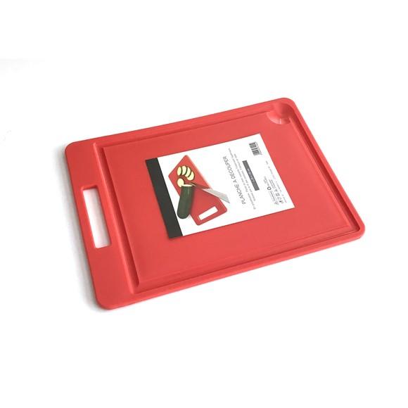Achat en ligne Planche à découper en polyéthylène rouge 35x25cm