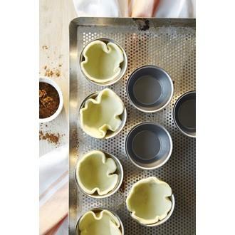 Set de 4 moules à pasteis de nata en inox