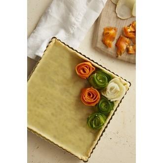 MAOM - Moule à tarte carré avec fond amovible 21x2,5cm