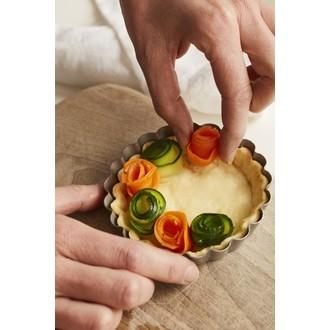 MAOM - Moule à tarte avec fond amovible revêtu en métal 10cm