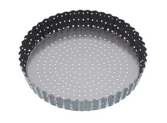 Moule à tarte perforé en acier antiadhésif 25cm crousty