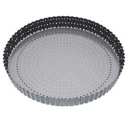 Achat en ligne Moule à tarte amovible perforé en acier antiadhésif 30cm Crousty