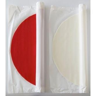 PATISDECOR - Pâte à sucre rouge prête à dérouler aromatisée vanille 36cmx4mm