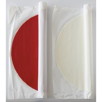 Pâte à sucre rouge à dérouler aromatisée vanille 36cmx4mm