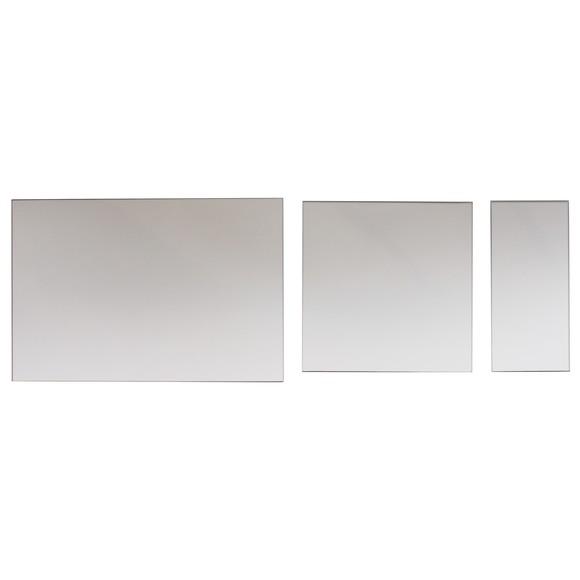 Set de 3 miroirs rectangulaires 47x32cm, 30x32cm, 15x32cm