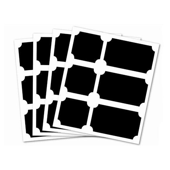 24 stickers ardoise étiquettes