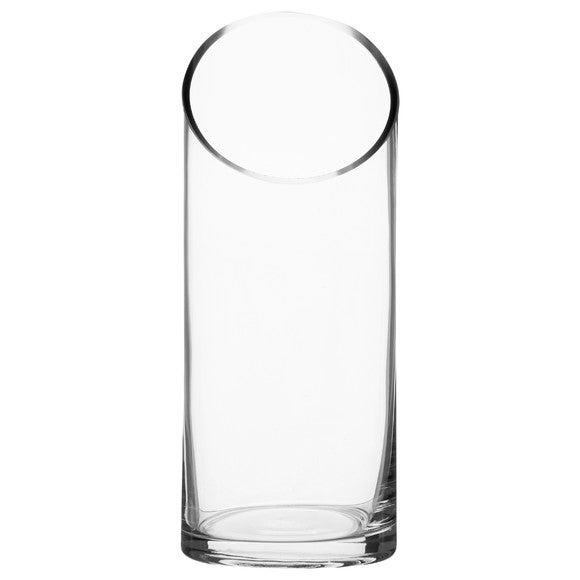 Vase cylindre transparent 10x25cm