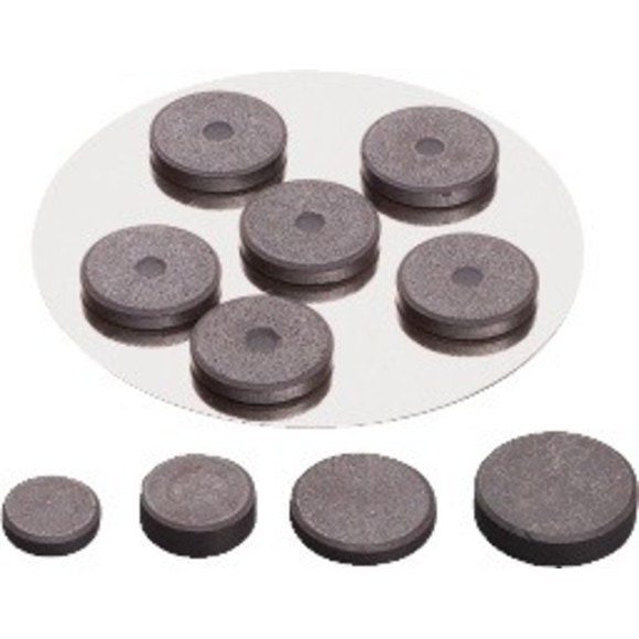 Aimant extra fort noir 12mm