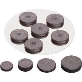 Set de 12 aimants extra fort noir 19mm
