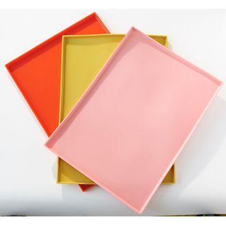 Plaque à génoise rouge 27x37cm
