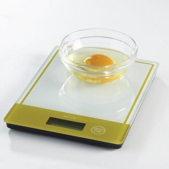 Balance de cuisine électronique en verre vert 5kg