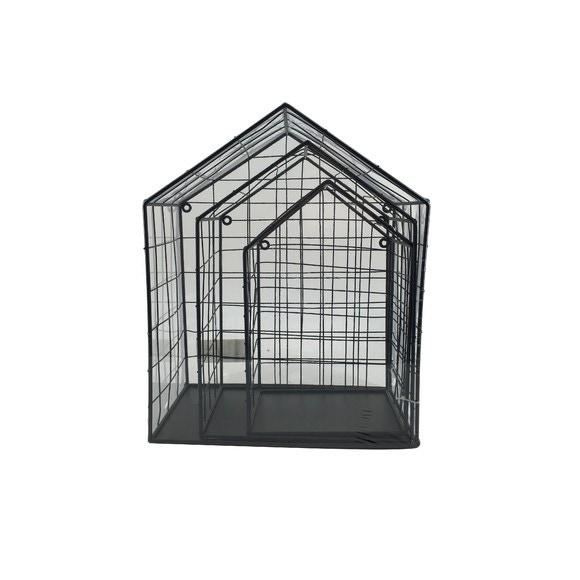 acquista online Set di 3 ripiani in wireframe nero da 28 a 36cm