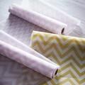 Chemin de table imprimé chevron blush 0,28x2,5cm