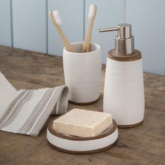 Porte-savon en polyrésine blanc rustic