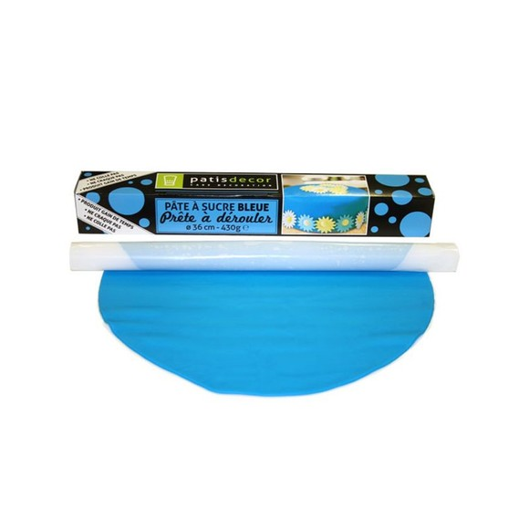 compra en línea Fondant listo para usar de vainilla azul Patisdecor (430 gr)