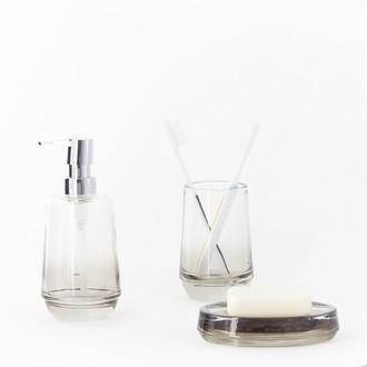 Distributeur de savon en verre gris fume seveda