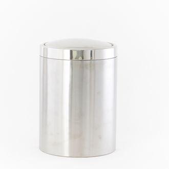 Poubelle de salle de bain à bascule 7L chrome
