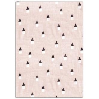 TOGA - Feuille de tissu adhésif rose Maison Scandinave format A4