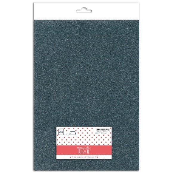 Achat en ligne Feuille thermocollante pailletée gris foncé format A4