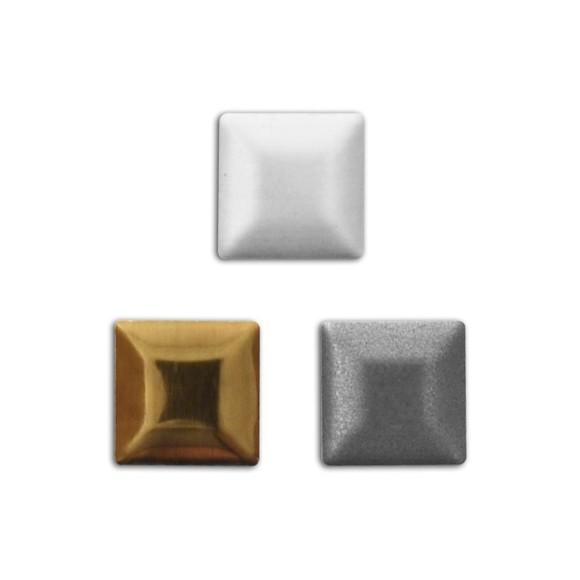 Assortiment 300 clous carrés thermocollants or et gris 7 mm