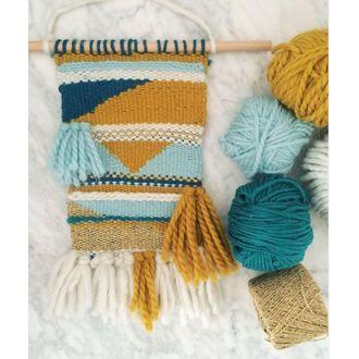 Pelote de laine pure coton curry natura 100g