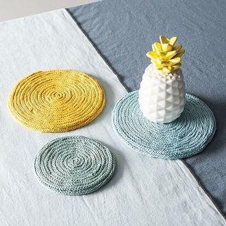 Pelote de laine pure coton jaune giroflée natura 50g