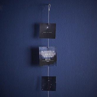 KIKKERLAND - Câble pour pêle-mêle photo argenté - 8 magnets