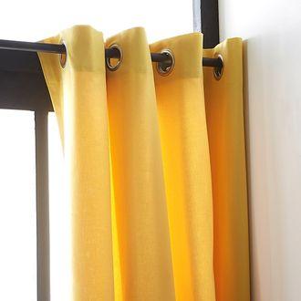 ZODIO - Rideau jaune yuzu Louise 140x260cm