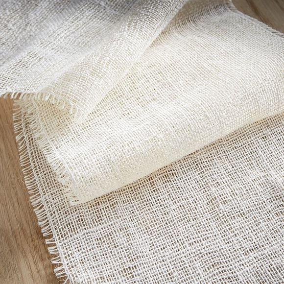 Achat en ligne Chemin de table en toile de jute blanc cassé 0,30x5m