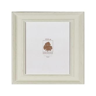 Cadre photo braque blanc mat 14x14cm