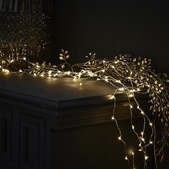 Guirlande lumineuse 150 micro led blanc chaud 7.50m