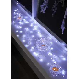 Guirlande lumineuse 150 micro LED blanc froid 7.50m