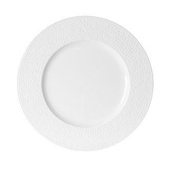 Assiette plate Louna blanche relief 27cm