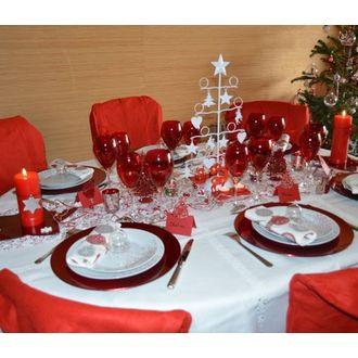 Assiette  hôtesse coupe ronde rouge 33cm
