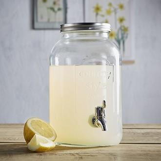 Fontaine à boisson en verre transparente 3,5L