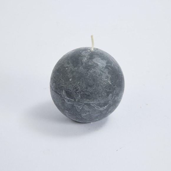 Bougie boule cendre 6cm