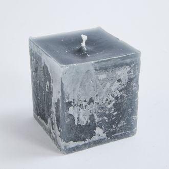 Bougie carrée cendre 7,5x7,5x8cm
