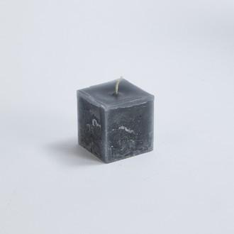 Bougie carrée cendre 6x6x6cm