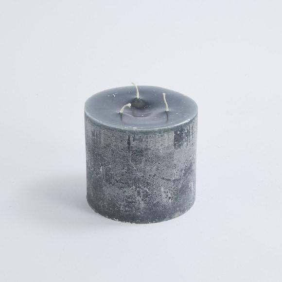 Bougie cylindrique  à 3 mèches cendre 15x14cm