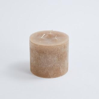 Bougie cylindrique à 3 mèches pashmina 15x14cm